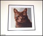 Polymer clay pixel portrait